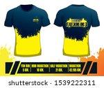 running silhouettes. shirt... | Shutterstock .eps vector #1539222311