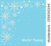winter celebration blue... | Shutterstock .eps vector #1539242144