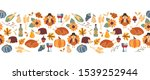 vector border thanksgiving....   Shutterstock .eps vector #1539252944
