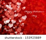 abstract valentine's day... | Shutterstock . vector #153925889