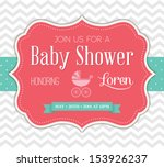 Stock vector baby shower invitation 153926237