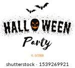 halloween party card. vector... | Shutterstock .eps vector #1539269921