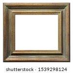 Vintage Brown Wooden Frame On A ...