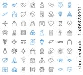 marriage icons set. collection... | Shutterstock .eps vector #1539323441