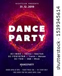 dance party poster vector... | Shutterstock .eps vector #1539345614