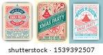 christmas flyer gretting card... | Shutterstock .eps vector #1539392507