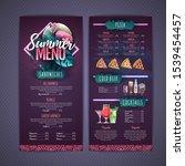 summer menu design with... | Shutterstock .eps vector #1539454457