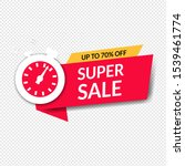 sale poster with transparent... | Shutterstock .eps vector #1539461774