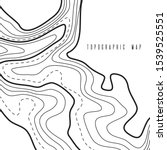 topographic map contour... | Shutterstock .eps vector #1539525551
