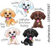 vector set of cute little puppy ...   Shutterstock .eps vector #1539525587