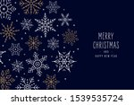 christmas snowflakes elements...   Shutterstock .eps vector #1539535724