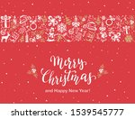 text merry christmas with...   Shutterstock .eps vector #1539545777