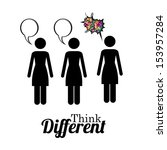 think different over white... | Shutterstock .eps vector #153957284