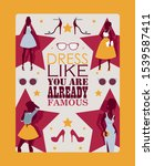 fashion inspirational poster ...   Shutterstock .eps vector #1539587411