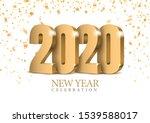vector text design 2020. gold... | Shutterstock .eps vector #1539588017