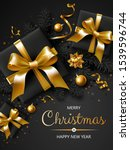 vertical banner with christmas... | Shutterstock .eps vector #1539596744
