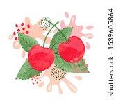 cherry juice vector...   Shutterstock .eps vector #1539605864
