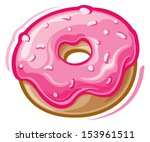 breakfast food,cartoon,dessert,donut,donut isolated,doughnut isolated,frosting,icon,icons vector,illustration,illustration vector,junk food,pastry,pink,sprinkles