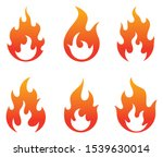 fire flames icons collection.... | Shutterstock .eps vector #1539630014