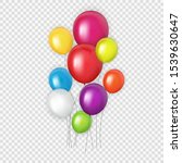 group of colour glossy helium... | Shutterstock .eps vector #1539630647