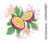 passion fruit vector... | Shutterstock .eps vector #1539639887