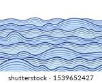 blue sea wave background.... | Shutterstock .eps vector #1539652427