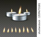 realistic vector 3d burning tea ... | Shutterstock .eps vector #1539673181