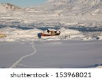 a cutter  icebound in the port... | Shutterstock . vector #153968021