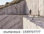 Photographer At A Marble Quarry ...