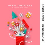 merry christmas and happy new... | Shutterstock .eps vector #1539710597