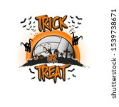 halloween pattern. trick or... | Shutterstock .eps vector #1539738671