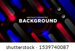 abstract red and blue geometric ... | Shutterstock .eps vector #1539740087