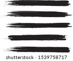 brush stroke set isolated on... | Shutterstock .eps vector #1539758717