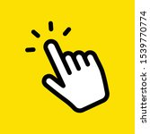 hand click vector icon ... | Shutterstock .eps vector #1539770774