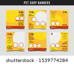 pet shop square banner template.... | Shutterstock .eps vector #1539774284