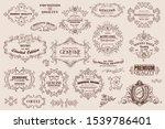 calligraphic design elements ...   Shutterstock .eps vector #1539786401