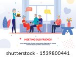 meeting old friends and party...   Shutterstock .eps vector #1539800441