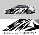 car wrap decal designs.... | Shutterstock .eps vector #1539823277