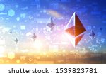 crypto currency concept. mixed...   Shutterstock . vector #1539823781