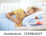 Sick Little Boy With Asthma...