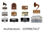 set of old vintage radio... | Shutterstock .eps vector #1539867617