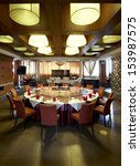 restaurant's private dining room | Shutterstock . vector #153987575