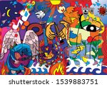 Composition Art Of Mural...