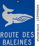 whale way sign in french | Shutterstock . vector #153990044
