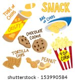snack icon doodle | Shutterstock .eps vector #153990584
