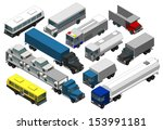 set of military vehicles. 3d  | Shutterstock . vector #153991181
