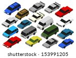 set of military vehicles. 3d  | Shutterstock . vector #153991205