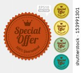 special offer sticker and tag... | Shutterstock .eps vector #153991301