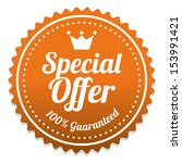 special offer sticker and tag... | Shutterstock . vector #153991421