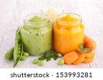 assortment of vegetable puree | Shutterstock . vector #153993281